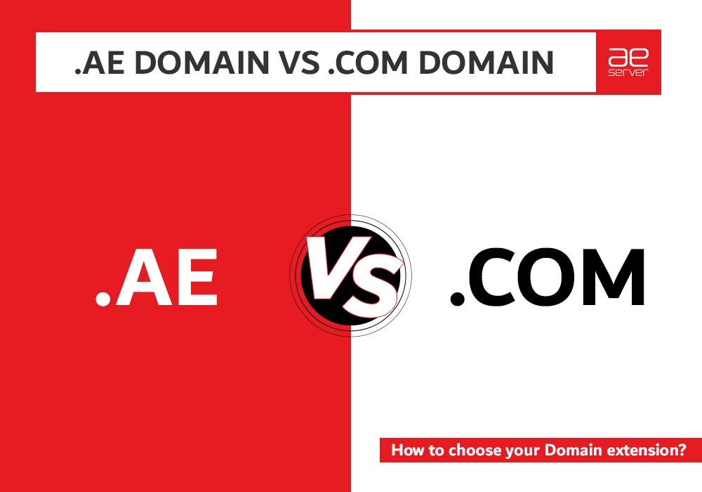 Read more about the article .AE Domain VS .COM Domain | How to choose your Domain extension?