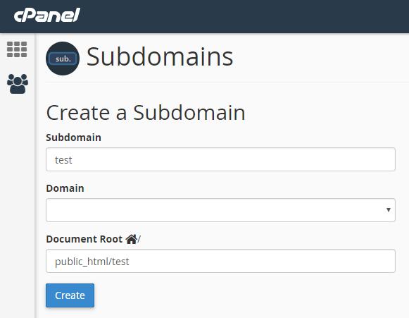 create-sub-domain